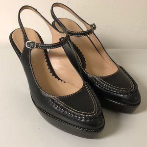 Cole Haan Women's Black Mary Jane Wedge Size 7 B